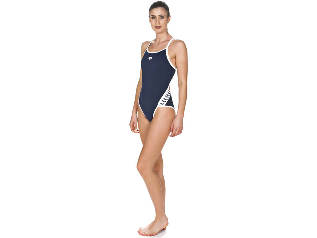 arena Team Stripe Super Fly Back One Piece Swimsuit Dames, blauw